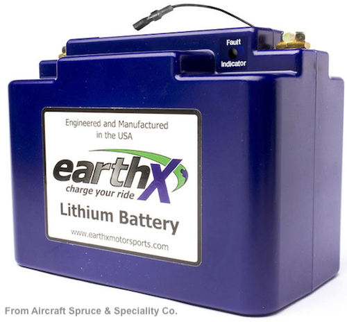 EARTHX 680C LITHIUM AIRCRAFT BATTERY